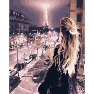 Картина по номерам 40х50 GX 30373 Вечерний Париж 40x50 см