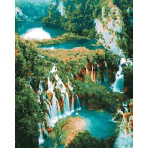 GX30395 Картина по номерам Водопад 40x50 см