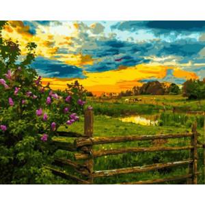 Картина по номерам GX 30414 Деревенский пейзаж 40x50 см