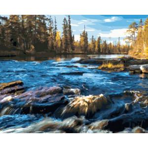 Картина по номерам 40х50 GX 30428 Бурная река 40x50 см