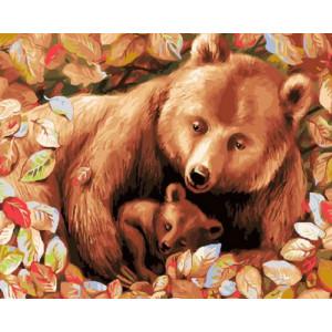 Картина по номерам GX30432 Косолапая семья 40x50 см