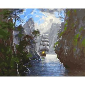 Картина по номерам 40х50 GX 30440 Сквозь острова 40x50 см