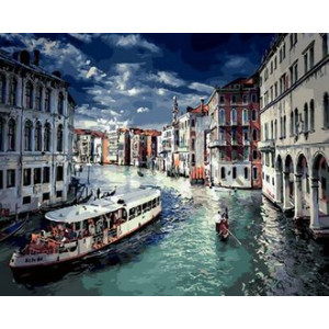 Картина по номерам 40х50 GX 30484 Город на воде 40x50 см