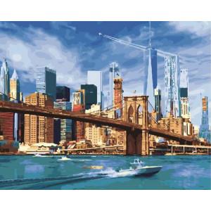 Картина по номерам 40х50 GX 30492 Мегаполис 40x50 см