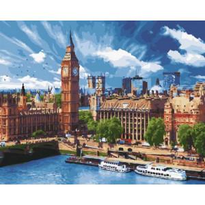 Картина по номерам 40х50 GX 30493 Небо Лондона 40x50 см