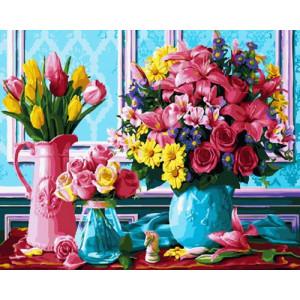 Картина по номерам 40х50 GX 30500 Яркие цветы 40x50 см