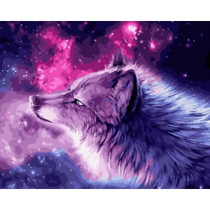 Картина по номерам 40х50 GX 30523 Северный волк 40x50 см