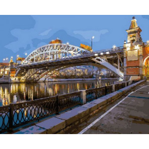 Картина по номерам 40х50 GX 30551 Городской мост 40x50 см