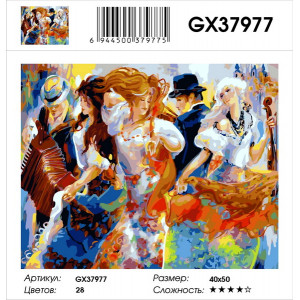"""GX37977 Картина по номерам """"В вихре танца"""" 40х50 см"""
