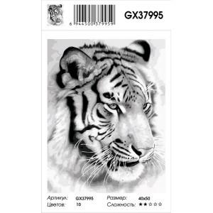 """GX37995 Картина по номерам """"Тигр карандашом"""" 40х50 см"""