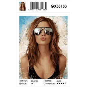 """GX38183 Картина по номерам """"Девушка в солнцезащитных очках"""" 40х50 см"""