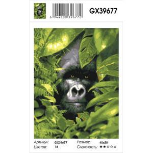 """GX39677 Картина по номерам """"Горилла в засаде"""" 40х50 см"""