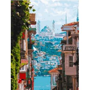 "МСА1215 Картина по номерам ""Улочки Стамбула"", 40х50 см"