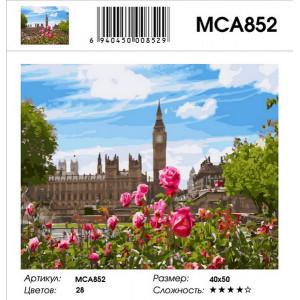 """MCA852 Картина по номерам """"Розы и Биг Бен"""", 40х50 см"""