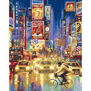 "GX8521 Картина по номерам ""Огни большого города"", 40х50 см"
