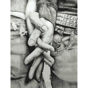 """MCA1439 Картина по номерам """"Сплетение рук"""", 40х50 см"""