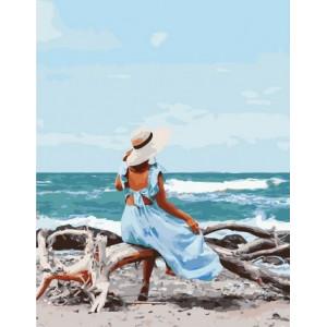 """MCA1447 Картина по номерам """"Забытый пляж"""", 40х50 см"""