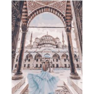 "MCA1451 Картина по номерам ""Девушка и мечеть"", 40х50 см"