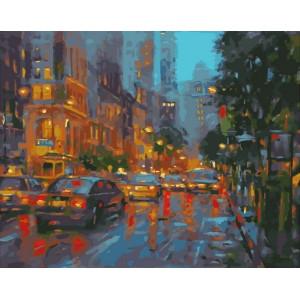 """MCA1469 Картина по номерам """"Красивый ночной город"""", 40х50 см"""