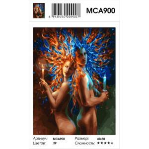 "MCA900 Картина по номерам ""Огонь и воздух"" , 40х50 см"