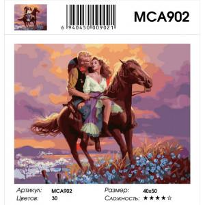 """MCA902 Картина по номерам """"Дикий запад. История одной любви"""" , 40х50 см"""