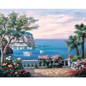 PH9239 Картины по номерам  Вид на море 40х50 см