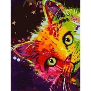 "MCA982 Картина по номерам ""Звездный котик"",  40х50 см"