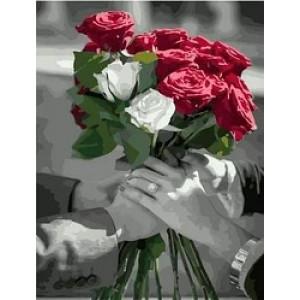 """MCA983 Картина по номерам """"Розы для тебя"""",  40х50 см"""