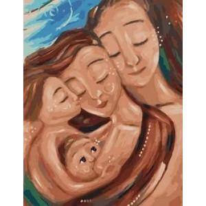 """MCA986 Картина по номерам """"Счастливая семья"""",  40х50 см"""