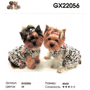 "GX22056 ""Два йорка"", 40х50 см"