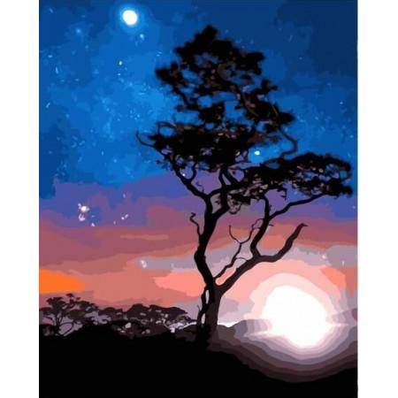 "GХ23214 Картины по номерам ""Под светом звезд"", 40х50 см"