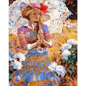 """GХ23259 Картины по номерам """"Дама с зонтиком """", 40х50 см"""