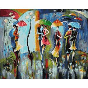 """GХ21373 Картины по номерам """"Радужные зонтики"""", 40х50 см"""