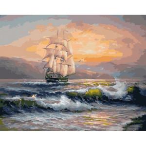 """GХ21652 Картины по номерам """"Попутный ветер"""" 40х50 см"""