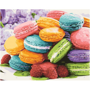 """GХ21678 Картины по номерам """"Разноцветное печенье"""", 40х50 см"""