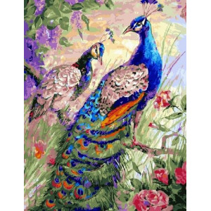 """GХ21805 Картины по номерам """"Павлины в саду"""", 40х50 см"""