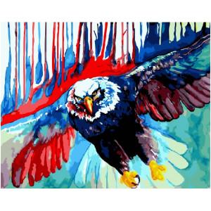 """GХ21825 Картины по номерам """"Красочный орел"""", 40х50 см"""