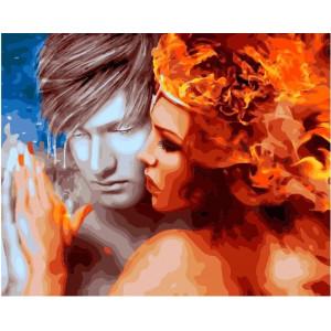 "GX21939 Картина по номерам ""Лед и пламень"", 40х50 см"