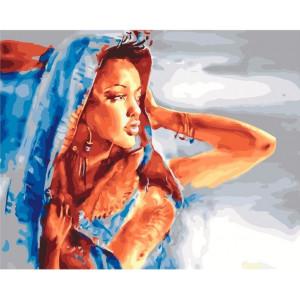 "GX21945 Картина по номерам ""Африканская красавица"", 40х50 см"