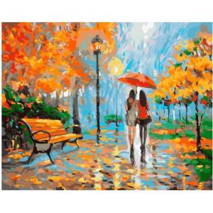 "GX21946 Картина по номерам ""Подруги в осеннем парке"", 40х50"