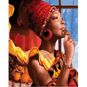 "GX21950  Картина по номерам ""В мечтах об Африке"" , 40х50 см"