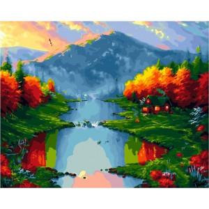 """GХ21954 Картины по номерам """"Осень в горах"""", 40х50 см"""