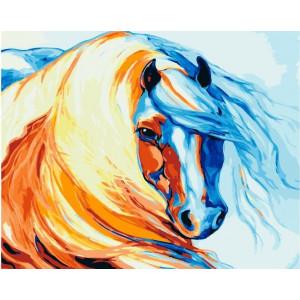 """GХ21956 Картины по номерам """"Акварельная лошадка"""", 40х50 см"""