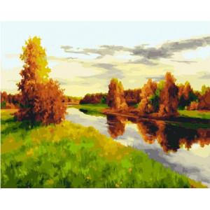 """GХ21961 Картины по номерам """"Осенняя река"""", 40х50 см"""