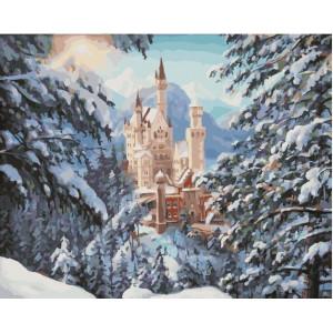"""GX21963 Картина по номерам """"Зимний замок"""", 40х50 см"""