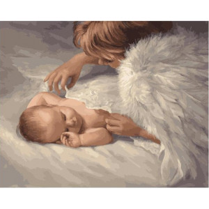 "GX21968 Картина по номерам ""Под защитой Ангела"", 40х50 см"