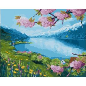 "GX21975 Картина по номерам ""Цветение сакуры"", 40х50 см"