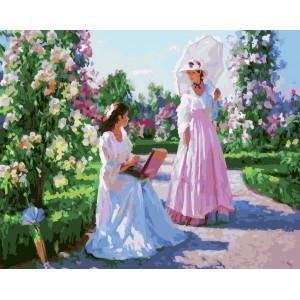 "GX21978 Картина по номерам ""Дамы в саду"", 40х50 см"