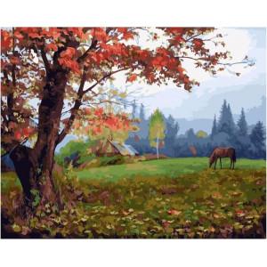 "GX21979 Картина по номерам ""Приближение осени"" , 40х50 см"