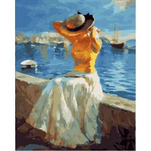 "GX21990 Картина по номерам ""Солечный день на море"", 40х50 см"